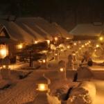 大内宿雪まつり|雪とかやぶき屋根の幻想的な街並みが美しすぎる!