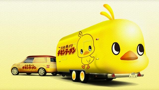 チキンラーメンのキャンピングカー